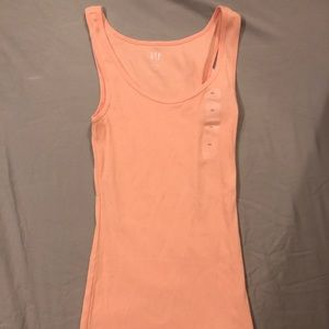 Creamsicle Orange GAP Ribbed Tank Top